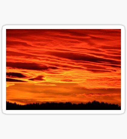 Flame Coloured Sunset Sky Sticker