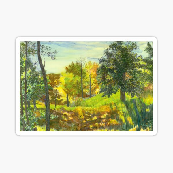 Solar fall  painting watercolor Sticker