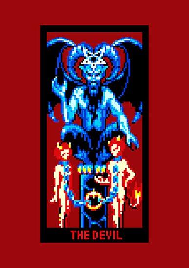 Tarot Devil Red by vgjunk