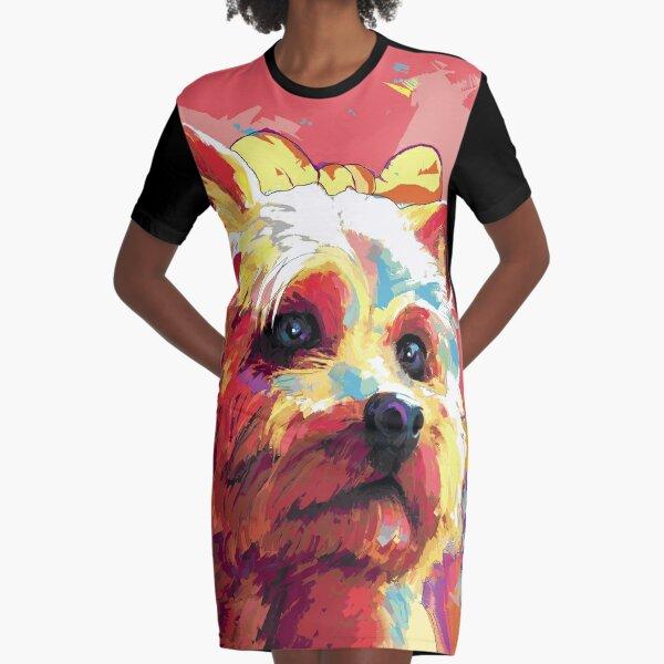 Yorkshire Terrier Dog Graphic T-Shirt Dress