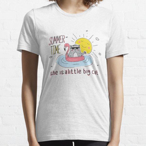 She Is A Little Big cat, summer Essential T-Shirt