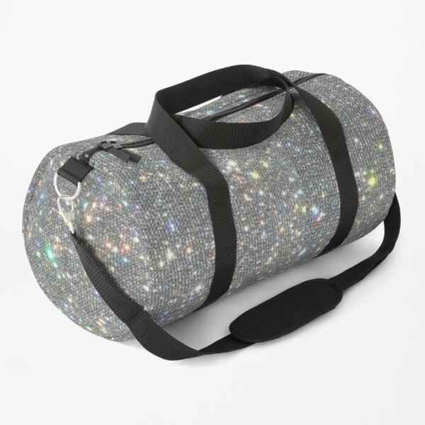Silver Sparkle Glitter Design Duffle Bag