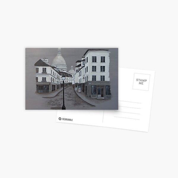 A Walk in Montmartre Postcard