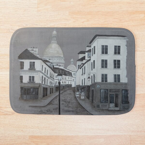 A Walk in Montmartre Bath Mat