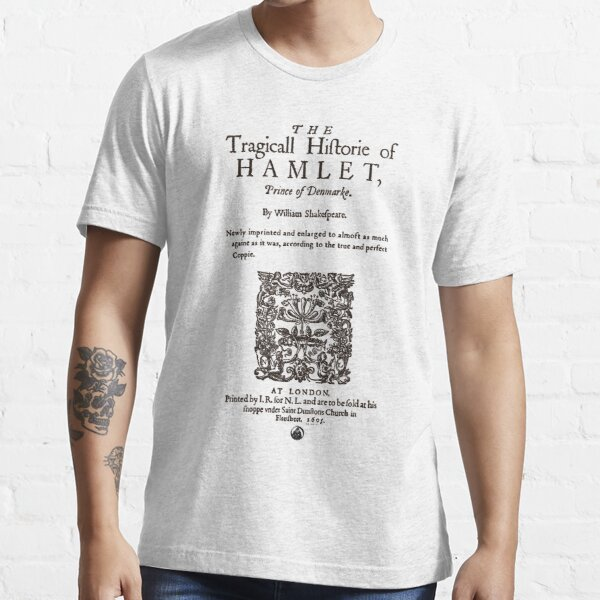 Shakespeare's Hamlet Front Piece - Simple Black Version Essential T-Shirt