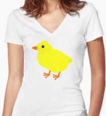 Easter Chick Women's Fitted V-Neck T-Shirt