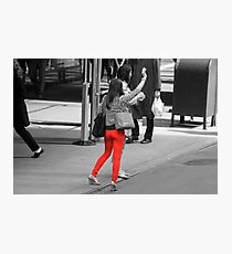 Hailing a Taxi Photographic Print