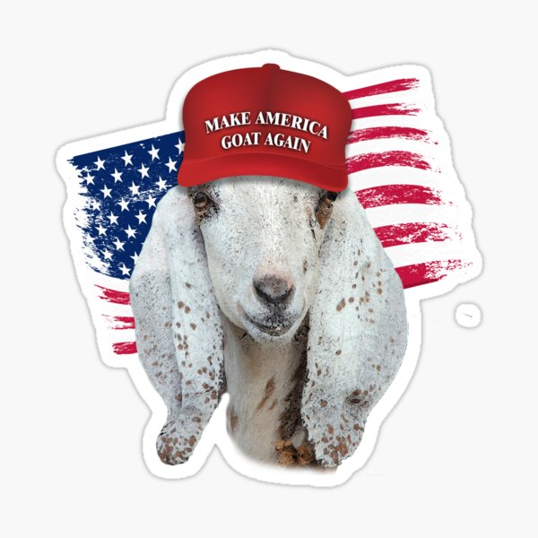 Make America GOAT Again Nubian Doe Goat Sticker