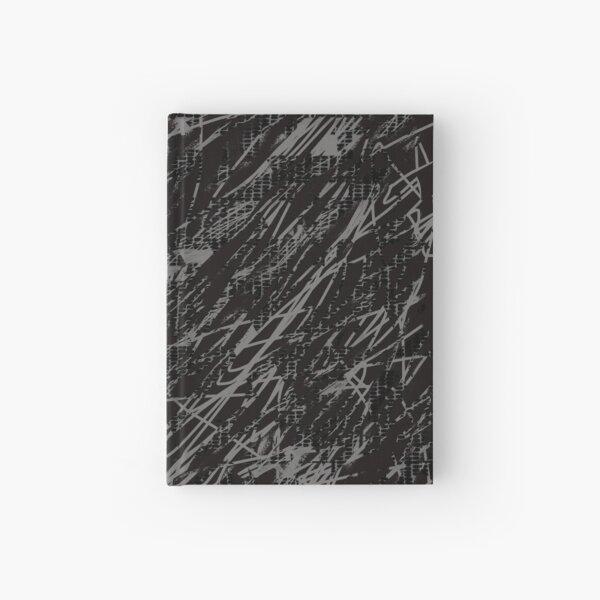 Crazy Pattern stripes grey Hardcover Journal