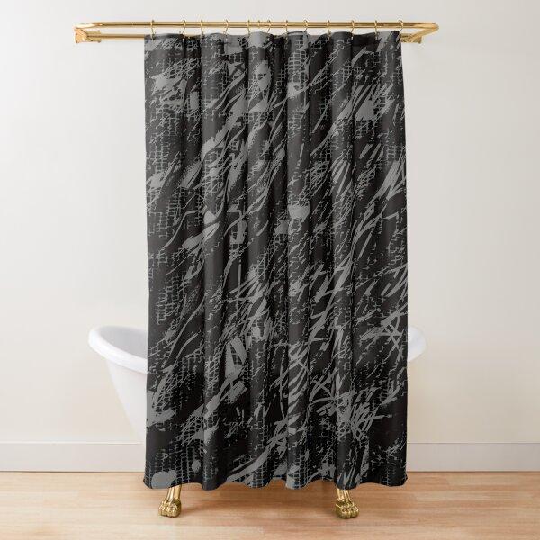 Crazy Pattern stripes grey Shower Curtain