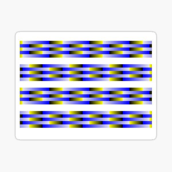 Anomalous motion illusions Glossy Sticker