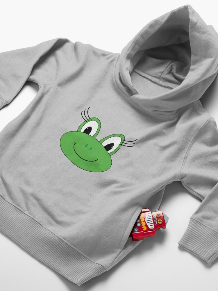 Alternate view of Carlee Frog Toddler Pullover Hoodie