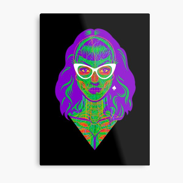 Xray Rockabilly Metal Print
