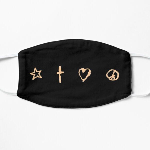 Signs (Peach on Black) Flat Mask