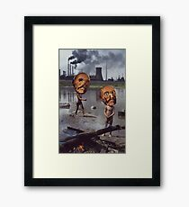 M Blackwell - Work Hazards Framed Print