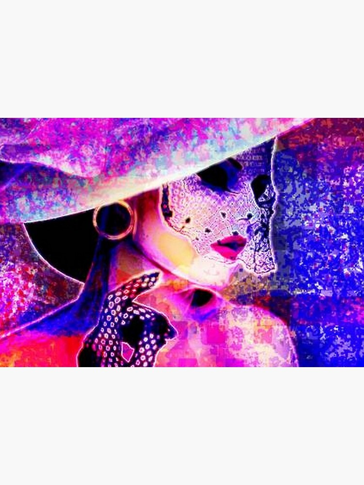 COLORFUL WOMAN IN SUNHAT by michaeltodd