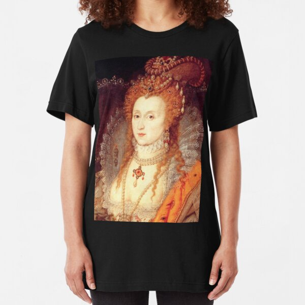 Elizabeth I Portrait Slim Fit T-Shirt