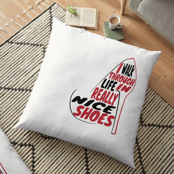 Schitt's Creek | I walk through life in really nice shoes Floor Pillow
