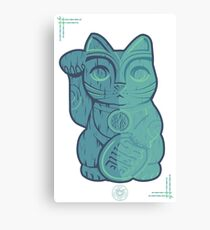 Tiki Lucky Cat Canvas Print