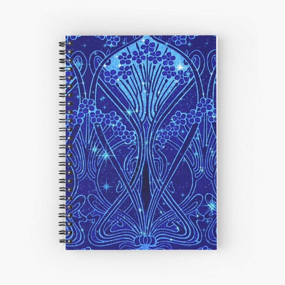 An Art Nouveau Night Sky Spiral Notebook
