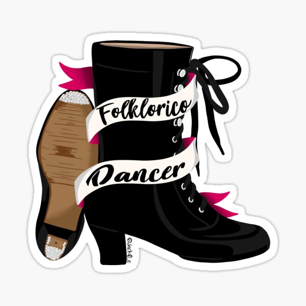 Folklorico shoes Sticker