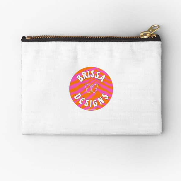 our logo @brissadesigns Zipper Pouch