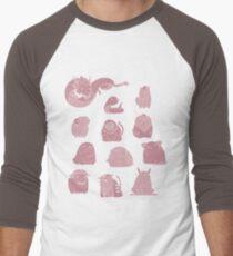 Cutie Chinese Zodiac Men's Baseball ¾ T-Shirt