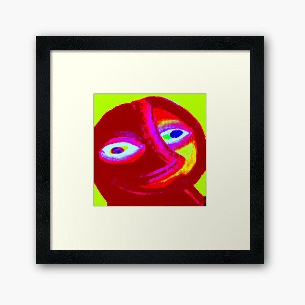 SMILING EARTH Framed Art Print