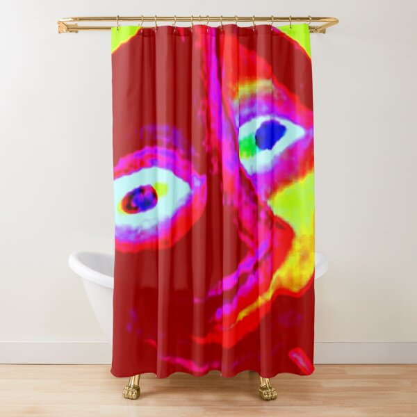 SMILING EARTH Shower Curtain