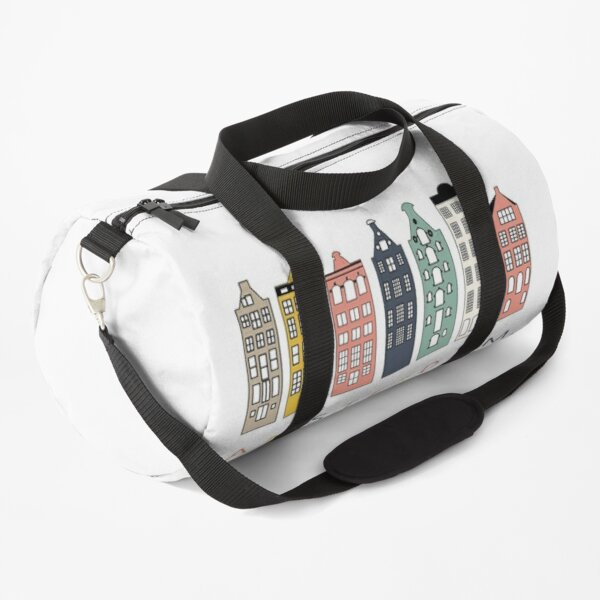 Amsterdam colorful canal houses Duffle Bag