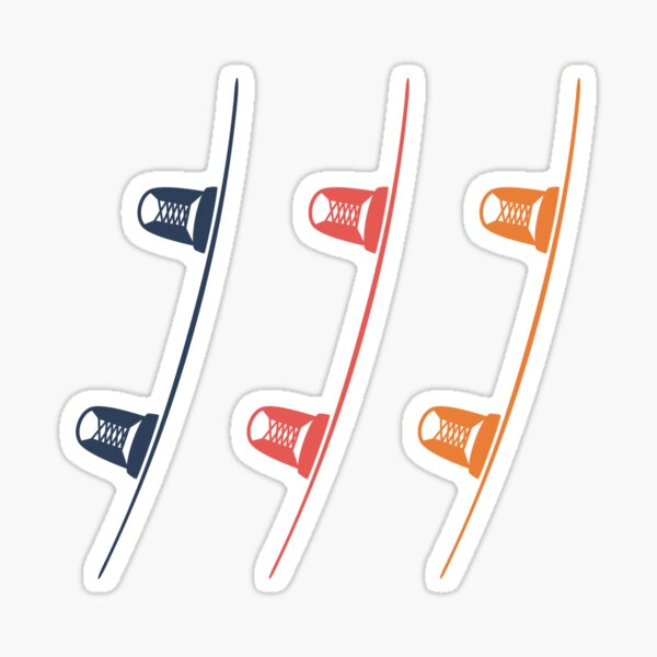 Wakeboard x 3 rouge foncé Sticker