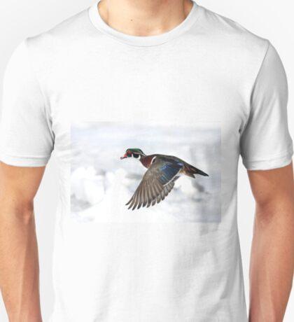 Wood Duck in flight T-Shirt