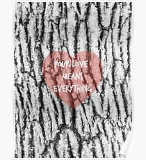 YOUR LOVE MEANS EVERYTHING Poster