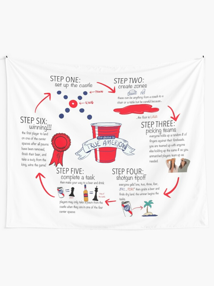 Alternate view of True American Rules Tapestry