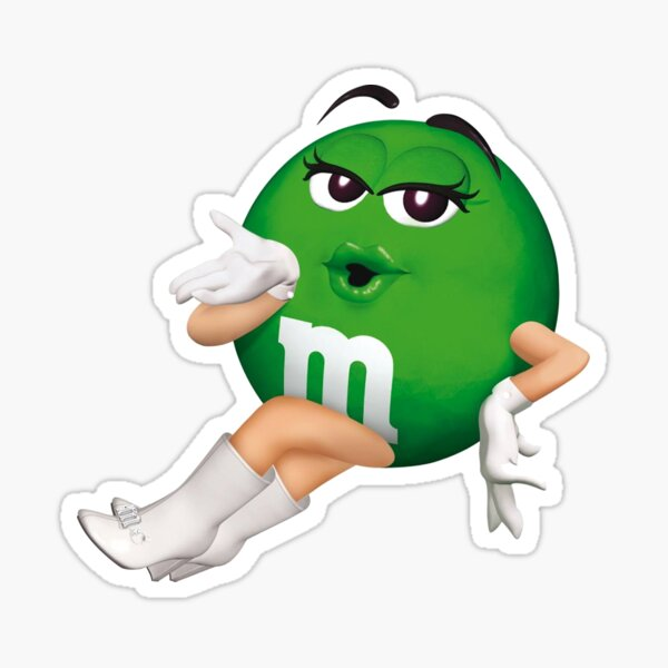Green M&M Sticker