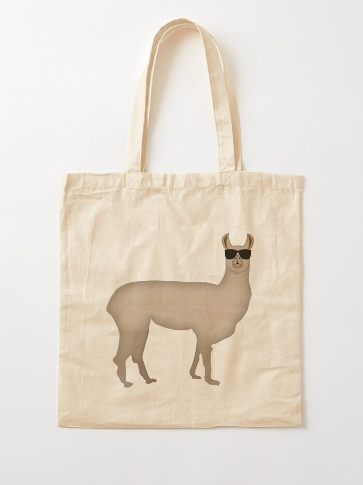 Alternate view of NDVH Llama (shaded) Tote Bag