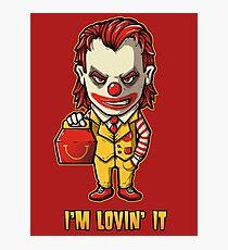 Mc'D Joker - Batman - Mashup Photographic Print