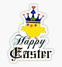 ㋡♥♫Happy Easter Blue Eyed Irish King Chicken Clothing & Stickers♪♥㋡ Sticker