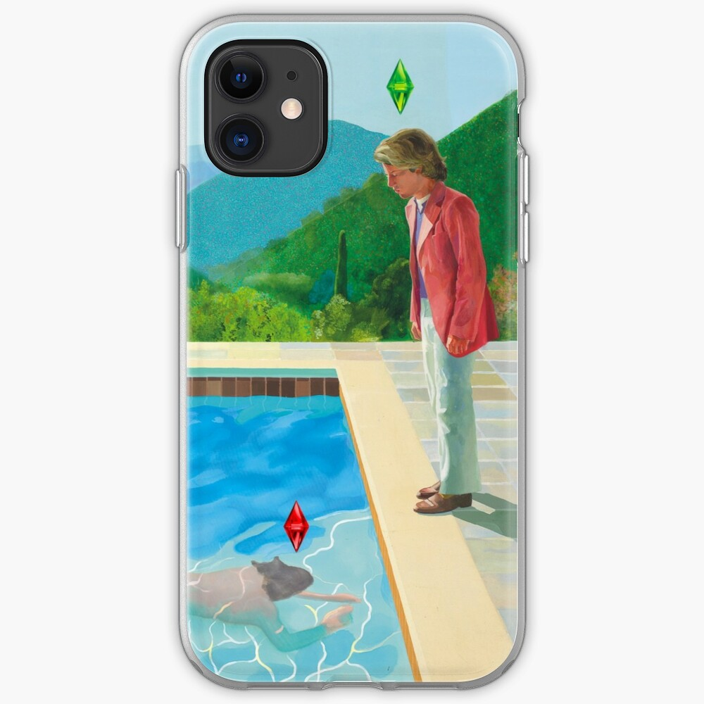 David Hockney Sims remake  iPhone Case & Cover