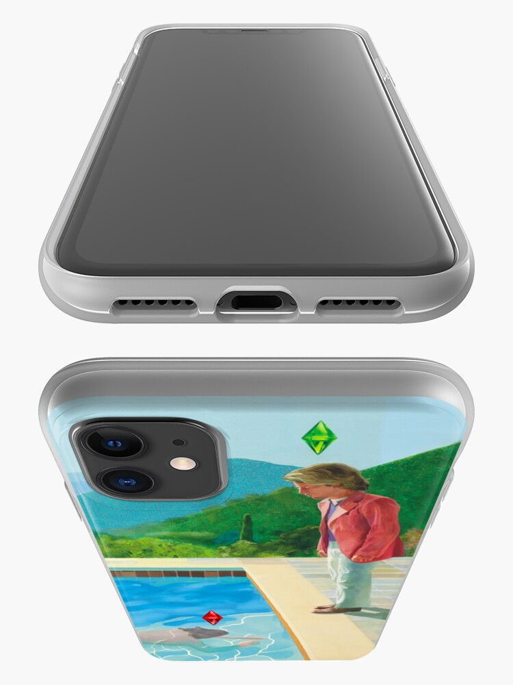 Alternate view of David Hockney Sims remake  iPhone Case & Cover