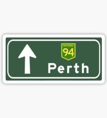 Perth, Road Sign, Australia  Sticker