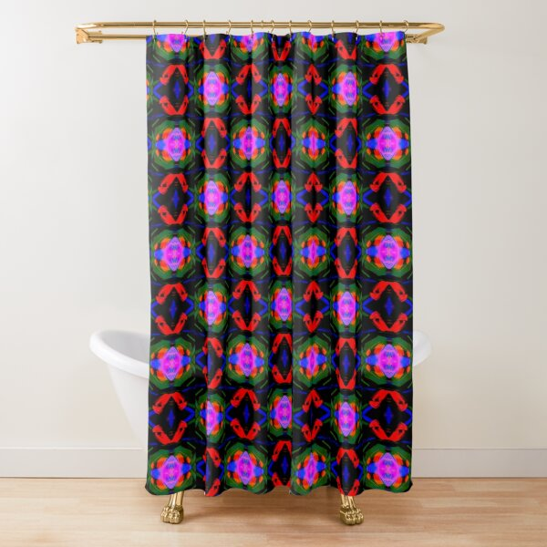 The Garden at Night (1) Psychedelic Pattern Shower Curtain