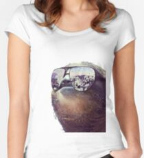 Cashmoney Sloth w/ sunglasses Women's Fitted Scoop T-Shirt