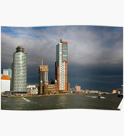 Rotterdam Harbor in and out Poster