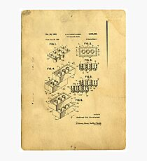 Lego Patent Photographic Print