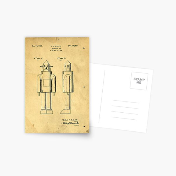 Mechanical Man Patent Postcard