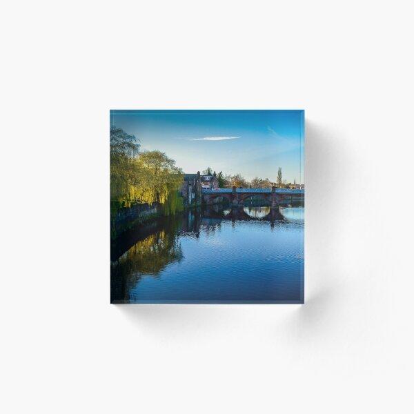 River Nith, Dumfries Acrylic Block