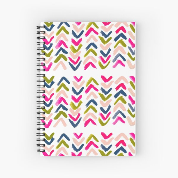 Colorful Painted Chevron Pattern Spiral Notebook