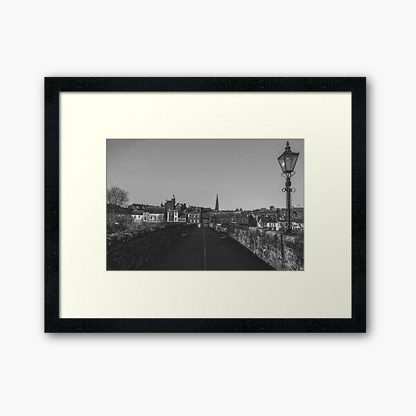 Dumfries, Scotland (Black & White) Framed Art Print