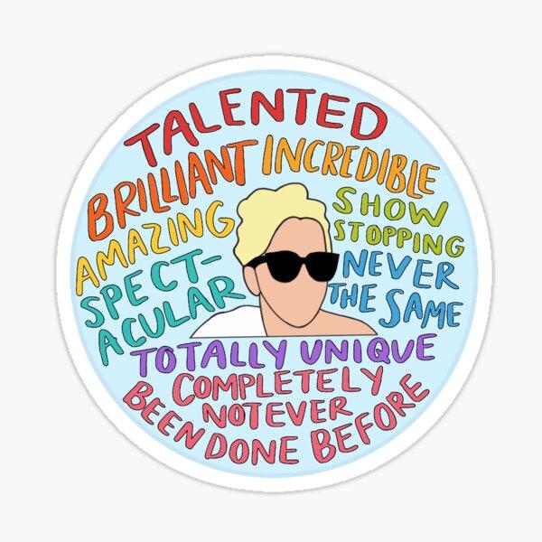Lady Gaga Talented Brilliant Sticker